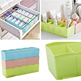 PETRICE Socks Undergarments Storage Drawer Organiser, (Colour May Vary) - Set of 4