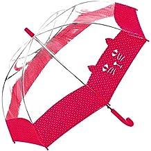 El mundo del paraguas – resistente al viento – estampado gato rojo – Bisetti paraguas infantil