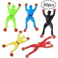 TOYMYTOY 30Pcs Juego de juguetes adhesivos elásticos, juguetes de hombre de escalador de pared adhesiva para niños Favores de fiesta de niños