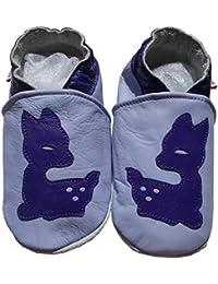 bbkdom - « Bambi » Chaussons cuir souple bébé et enfant de 0 à 6 ans
