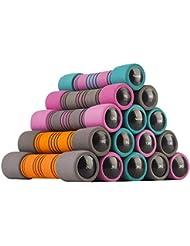 Readaeer Conjunto de 2 Pesas , con 9 colores y 3 tipos de peso (2 x 1kg / 2 x 1.5kg / 2 x 2kg) (azul y púrpura, 2 x 1kg)