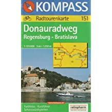 Donau-Radweg Regensburg - Bratislava: 1:125000
