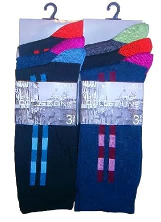 Man Basic - Chaussettes basses -  - À rayures Homme Multicolore Coloris assortis