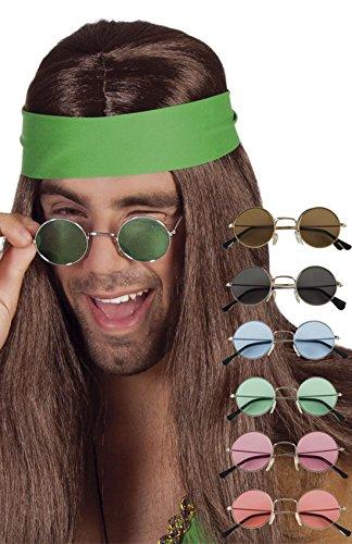 erdbeerclown - Sonnenbrille Hippie Boho Festival Style, Braun