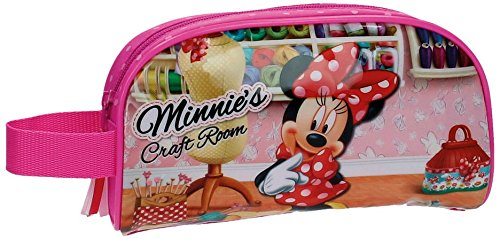 Disney Craft Room Neceser de Viaje, 2.48 litros, Color Rosa