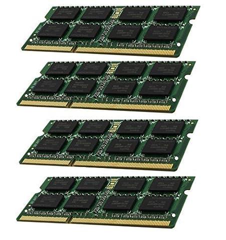 Hynix 3rd 32GB Dual Channel Kit 4 x 8 GB 204 pin DDR3-1866 SO-DIMM (1866Mhz, PC3L-14900S, CL13) passend für Apple iMac Retina 27