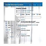 Preis am Stiel Duschvorhang ''Soziales Netzwerk'' | Badaccessoires | Durchtrenner | Wasserabweiser | Badezimmer | Dekoration | Menschen | Duschwanne | Badewanne