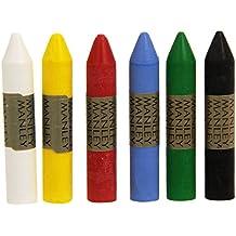 Manley MNC00022 - Pack de 6 ceras, multicolor