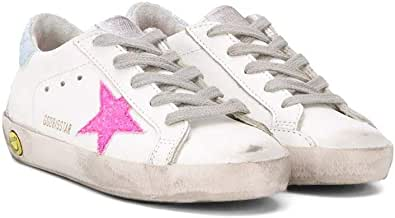 Golden Goose Luxury Fashion Ragazza G36KS001B46 Bianco Pelle Sneakers | Ss21