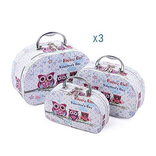 LEENY Eulen-Reihe Printing Tragbare Handtasche Großer Kapazität, Aufbewahrungsbox -