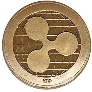 Ripple Coin,AmaMary Vintage Plated Ripple Coin XRP Coin Collectible Gift Art Collection Physical (1 pcs, copper)