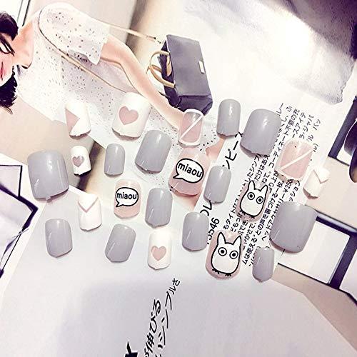 PETUNIA 24pcs Femmes Faux Ongles beauté Ongles Art Conseils Faux Ongles kit de manucure Bricolage - b13