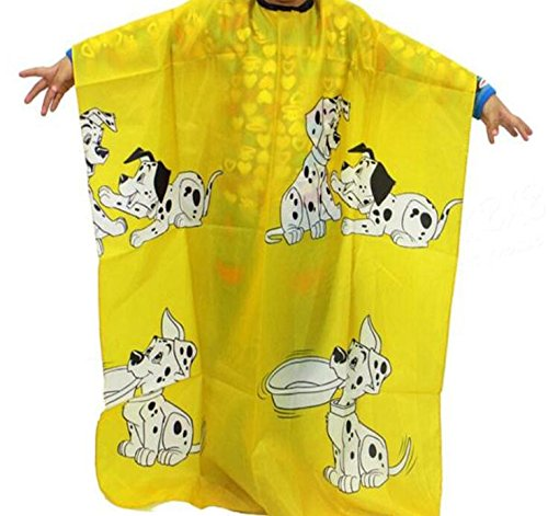 Friseur Cutting Cape (vxcbndtjd Cartoon Hund Friseur Cape Kleidung Salon Frisur Abdeckung Friseur (gelb))