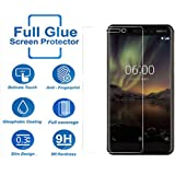 DigiPrints Tempered Glass Premium Oil Resistant Coated Tempered Glass Screen Protector Film Guard for Nokia 6.1(2018)