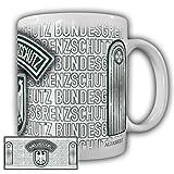 Tasse Leutnant BGS Bundesgrenzschutz Polizei Wappen Abzeichen Adler Schulterklappe Uniform Grenzschützer #23686