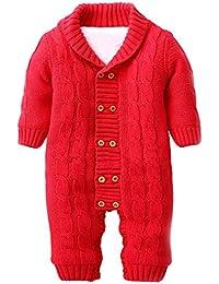 ZOEREA Unisexe bébé garçons chandails romper jumpsuit vestes d'hiver pulls bébé garçon grenouillère manche longue