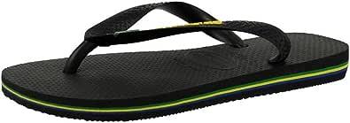 Havaianas Brasil Logo, Unisex Adults' Flip Flops Flip Flops, BLACK, 6/7 UK (41/42 BR)