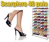 Schuhregal 40 paar Amazing shoe rack platzsparender und stabiler Schuhschrank Aluminiumstangen und hochwertigen bedarf es so wenig Stellfläche praktisch und robust mws