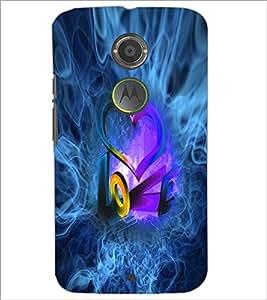 PrintDhaba Love D-4927 Back Case Cover for MOTOROLA MOTO X2 (Multi-Coloured)