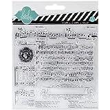"""Heidi Swapp Mixed Media francobolli chiare note di 5,5 """"X5.5""""-musica"""