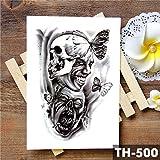 Adesivo tatuaggio temporaneo impermeabile ala santo angelo Cavaliere coraggioso guerriero Flash tatuaggi body art braccio falso tatuaggio