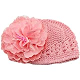 Fullkang Flower Toddlers Infant Baby Girl Lace Hair Band Headband Headwear Hat (pink)