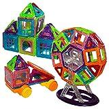 Kurtzy Mini Magical Magnet, Blocchi magnetici 3D, 128 Pezzi, Giocattoli magnetici per Bambini, Giocattoli educativi per Bambini, Piastrelle edili, Set di Costruzioni creativi per Ragazzi e Ragazze
