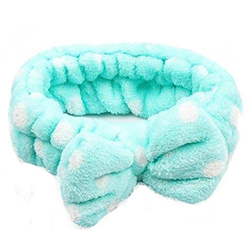 Bowknot Stirnband Haarband Haar Wrap für Make-up Gesichtsreinigung Gesichtspflege (Grün)