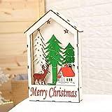 Deko-Shop-Hannusch Maison en bois décorative à suspendre pour décoration de table ou de Noël Blanc chaud a