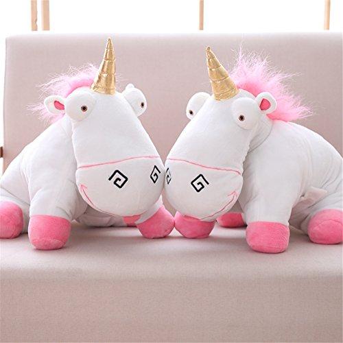 Einhorn Flauschig I Kuscheltier Plüschtier Pink I Kuschelig Plüschig Kinder Erwachsene I 40 cm I Unicorn I Maskottchen Dekoration Spielzeug