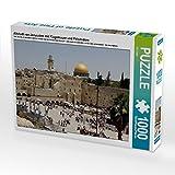 Altstadt von Jerusalem mit Klagemauer und Felsendom 1000 Teile Puzzle quer (CALVENDO Glaube)