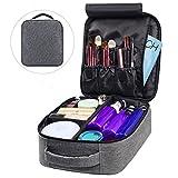 Borsa cosmetica per trucco, custodia portatile BMK, borsa da viaggio da viaggio Custodia multifunzionale staccabile per organizer per donna Uomo (grigio)