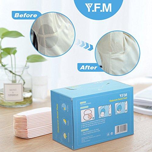 Y.F.M Desechables Almohadillas para el Sudor de Axilas Gran Calidad Sudor Almohadillas Axilas Antitranspirante Pads Protección contra el Sudor y Desodorante Manchas 40 piezas