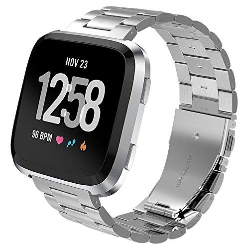 PUGO - Correa para Fitbit Versa Watch, Milanese Loop, imán de Acero Inoxidable, Correa para Pulsera para Fitbit Versa Smartwatch