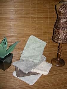Santens - Gant de toilette en bambou (couleur : jaune)
