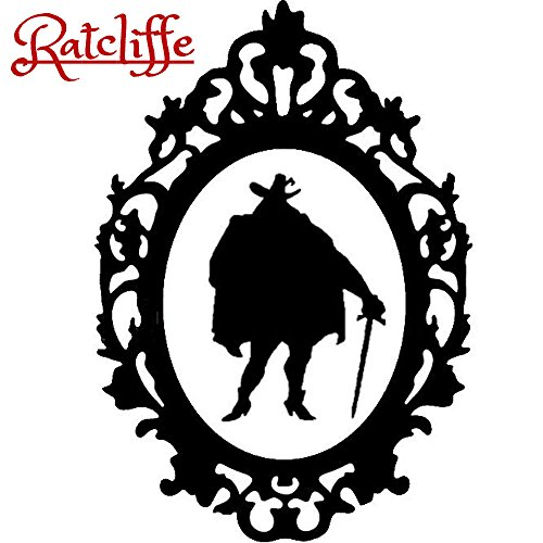 Disney Villain Schurke Silhouette Halloween Gothic Sticker Aufkleber Governor Ratcliffe Gouverneur Wall Window Home Haunted Haus Vinyl Abziehbild Decal