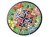 Mexikanische Handwerkskunst: Teller mittelgroß, handbemalt, hellgrün