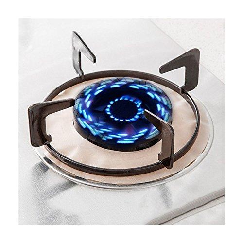 Rund, Durchmesser 21,5cm Gas Reihe Protectors Herd Brenner Liner Bezug Pad für Reinigung Küche Werkzeug 2Stück-BEIGE -