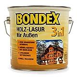 Bondex 3in1 Holzlasur für außen 2,50 Liter mahagoni