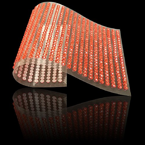 Gelnägel 3mm oder 1040pcs 6mm Stahlblech Kristall Strass selbstklebend Gem Bling Diamant Stick auf Aufkleber, Auto Kristallhalskette Strasssteinherzen Scrapbooking Telefon 3mm, 6mm Red 3mm