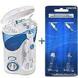 Waterpik Ultra Dental Water Flosser WP-100 With 6 Unique Tip & 10 Pressure Settings Plus Bonus Pack Of 2 Replacement...