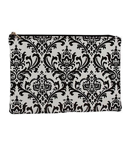 Preisvergleich Produktbild SIX Kosmetiktasche,  Make-up Tasche mit Ornamenten,  Vintage,  schwarz weiß (129-610)