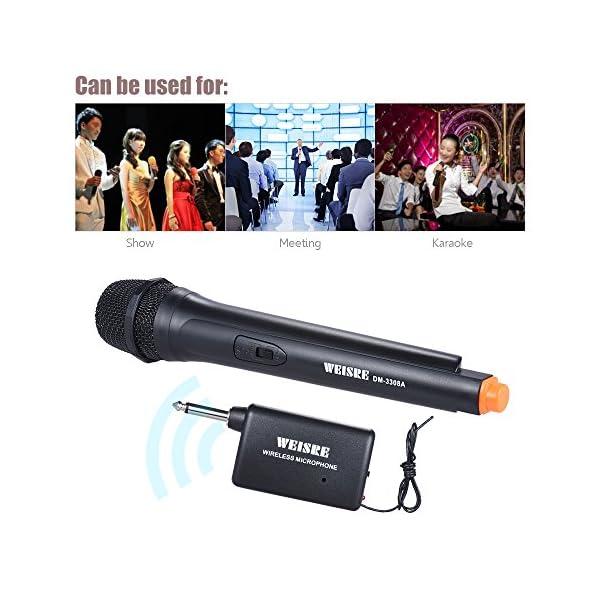 ammoon Wireless di mano Dinámica unidirezionale microfono amplificatore di voce per la riunione di cerimonia karaoke Promo
