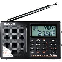 Tecsun PL-606 - Radio (AM, FM, despertador), color negro