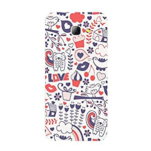 Back cover for Samsung Galaxy A3 2016 Mix Doodle 2