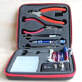 Kit de cigarrillo electrónico, bobina de bricolaje DIY, ohmmetro, pinzas diagonales, tijeras, destornillador, cerámica/codo Pinzas (Pacchetto base VAPE)