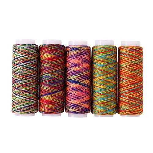 5pcs polyester à coudre Fil à quilter Brochage Accueil Alimentation couture ligne de machines à coudre fil