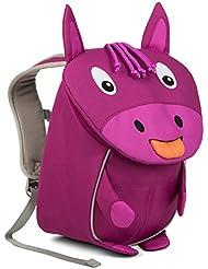 Affenzahn Kinderrucksack mit Brustgurt für 1-3 jährige Jungen und Mädchen im Kindergarten oder Kita der kleine Freund Paula Pferd - lila