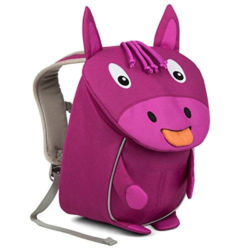 Affenzahn Kinder-Rucksack mit Brustgurt für 1-3 jährige Jungen und Mädchen im Kindergarten oder Kita der kleine Freund Paula Pferd - Lila