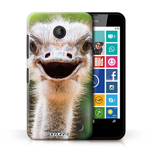 Kobalt® Imprimé Etui / Coque pour Nokia Lumia 635 / Paon conception / Série Animaux sauvages Autriche / Émeu